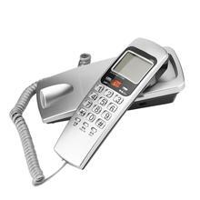 FSK/DTMF Определитель номера Телефон проводной телефон большая кнопка стол положить стационарный модный удлинитель для телефона домашний настенный телефон