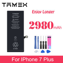 Аккумулятор для iphone 7 plus p 2980 мАч сменные батареи телефона
