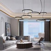 Современные светодиодные круглые подвесные светильники дизайнерская