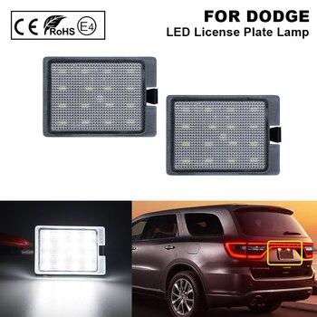 цена на 2X Error Free LED License Plate Light Number Plate Lamp for DODGE Durango 2014-2018