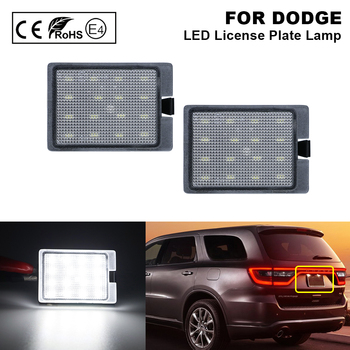 2X Error Free LED License Plate Light Number Plate Lamp for DODGE Durango 2014-2020 2x auto light for 03 18 dodge ram 1500 2500 3500 smoke lens led number license plate light kit canbus error free car styling