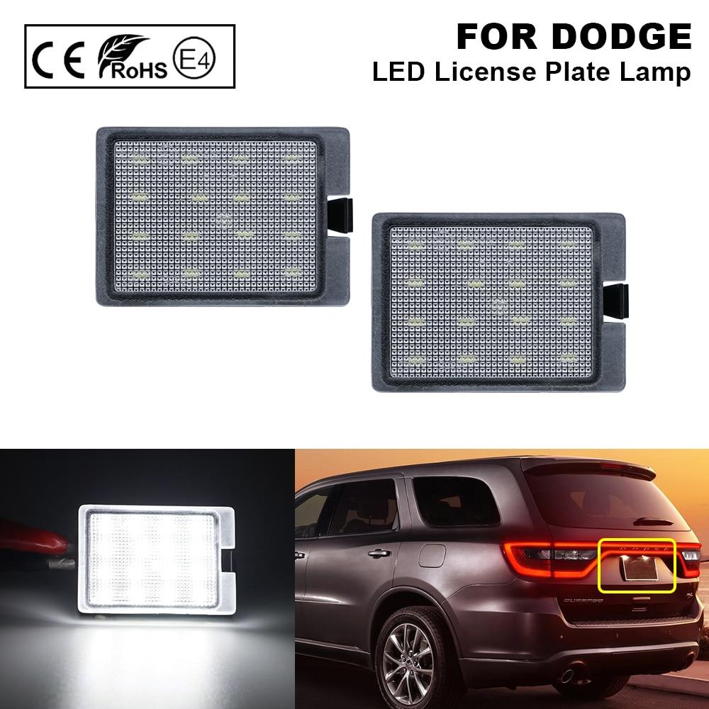 2X lámpara de placa de número de luz LED de matrícula libre de errores para DODGE Durango 2014-2020