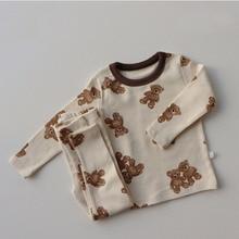 MILANCEL 2021 Spring New Born Baby Pyjama Set Cartoon Cute Cotton Long Sleeve Sleepwear