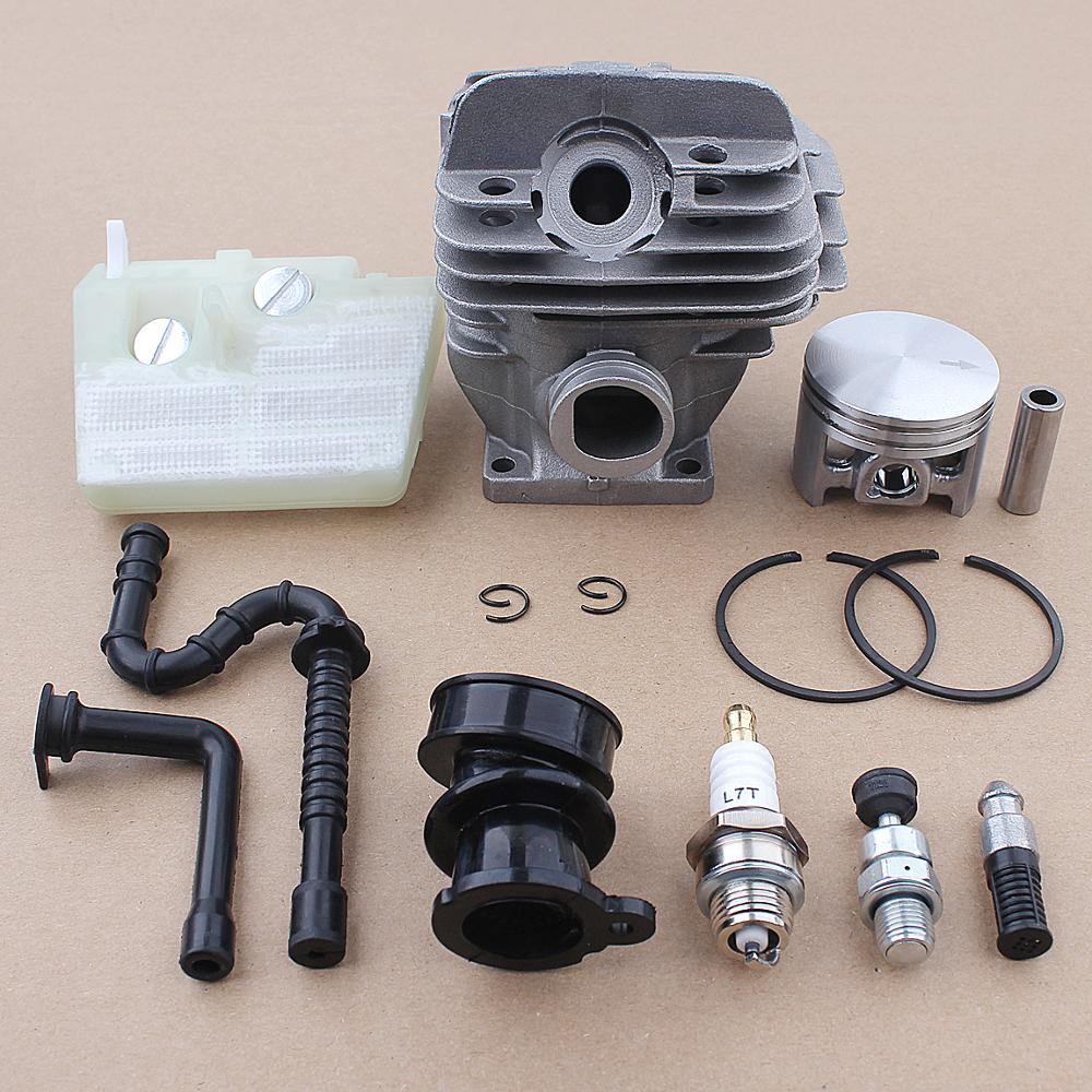 44mm Cyliner Piston Air Oil Filter Kit For Stihl 026 MS260 Chainsaw 11210201217 w Intake Manifold Spark Plug