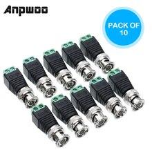 ANPWOO BNC разъемы для AHD Камеры CVI камеры TVI камеры видеонаблюдения коаксиальный/Cat5/Cat6 кабели
