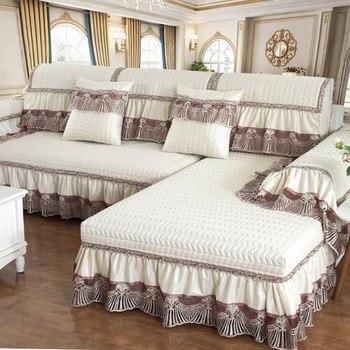 Four seasons universal sofa cushion, European sofa cushion, non-slip fabric sofa cover. four seasons universal european luxury sofa cushion linen non slip cushion sofa cover