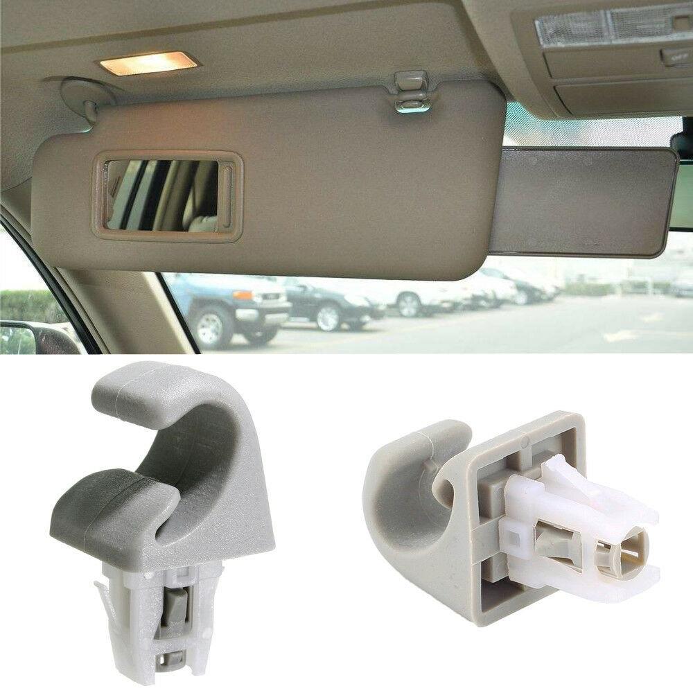 Beige Sale Sun Visor Hook Hanger Clip Fit For Toyota Camry Corolla RAV4 Solara