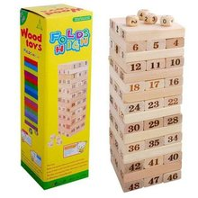 Children's Educational Toys Wooden 48pcs Assembled Building Blocks Stacked High Layer Puzzle Children's Decompression Toy
