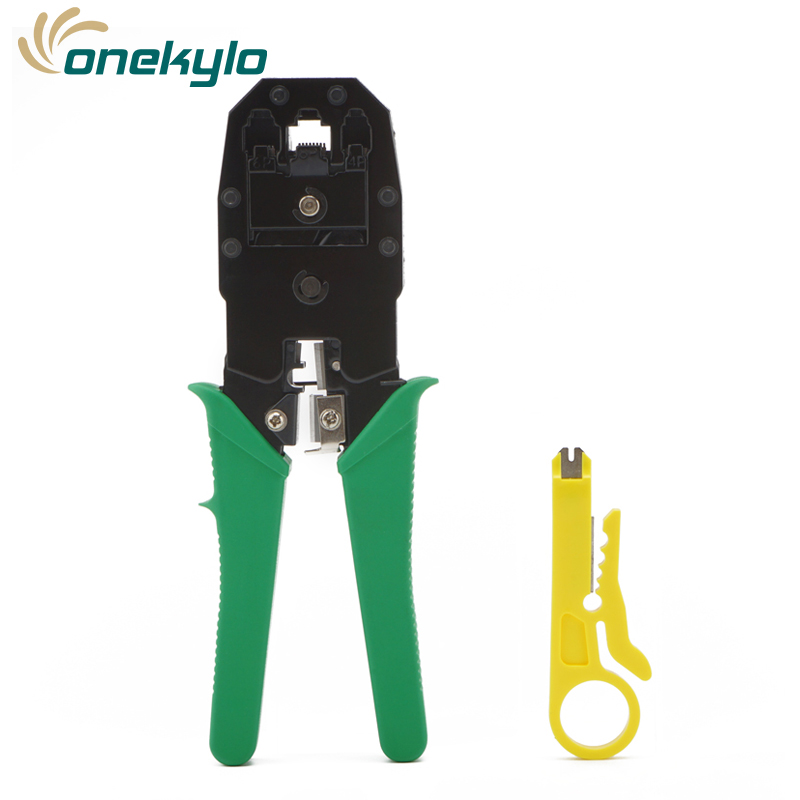 Crimp Tools Three Cable Clamp Cable Pliers RJ9//11//45 Crystal Head Crimping Tools