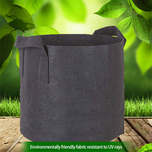 1-10 Gallon Garden Planting Bags Black Fabric Pots Plant Vegetable Potato Pouch Round Pot Container Grow Bag Garden Supplies