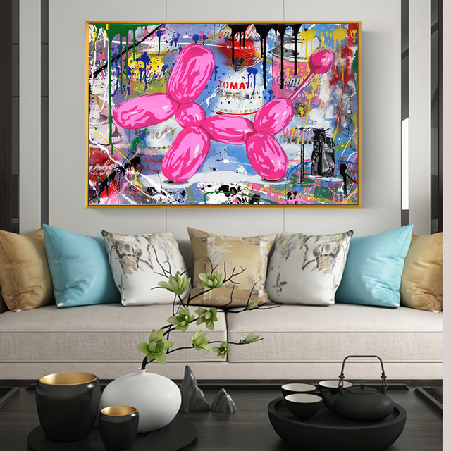 Abstract Street Art Graffiti Painting Printed on Canvas 1