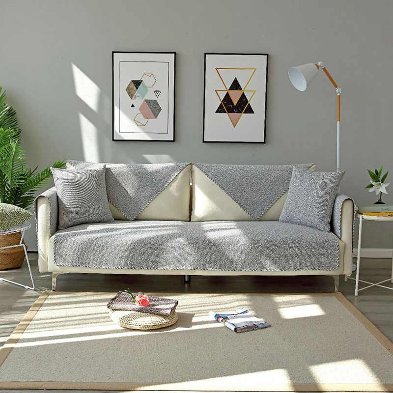 المنزل الحديث 100% أريكة من القطن غطاء كلب الأريكة حصيرة وسادة أريكة وسادة المضادة للانزلاق الترابية واقية حامي أريكة الغلاف 1/2/3 مقعد