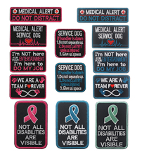 SERVICE DOG IN TRAINING DO NOT TOUCH PATCH Badge Morale K9 Therapy Police dog Tactical Harness Vest Patch