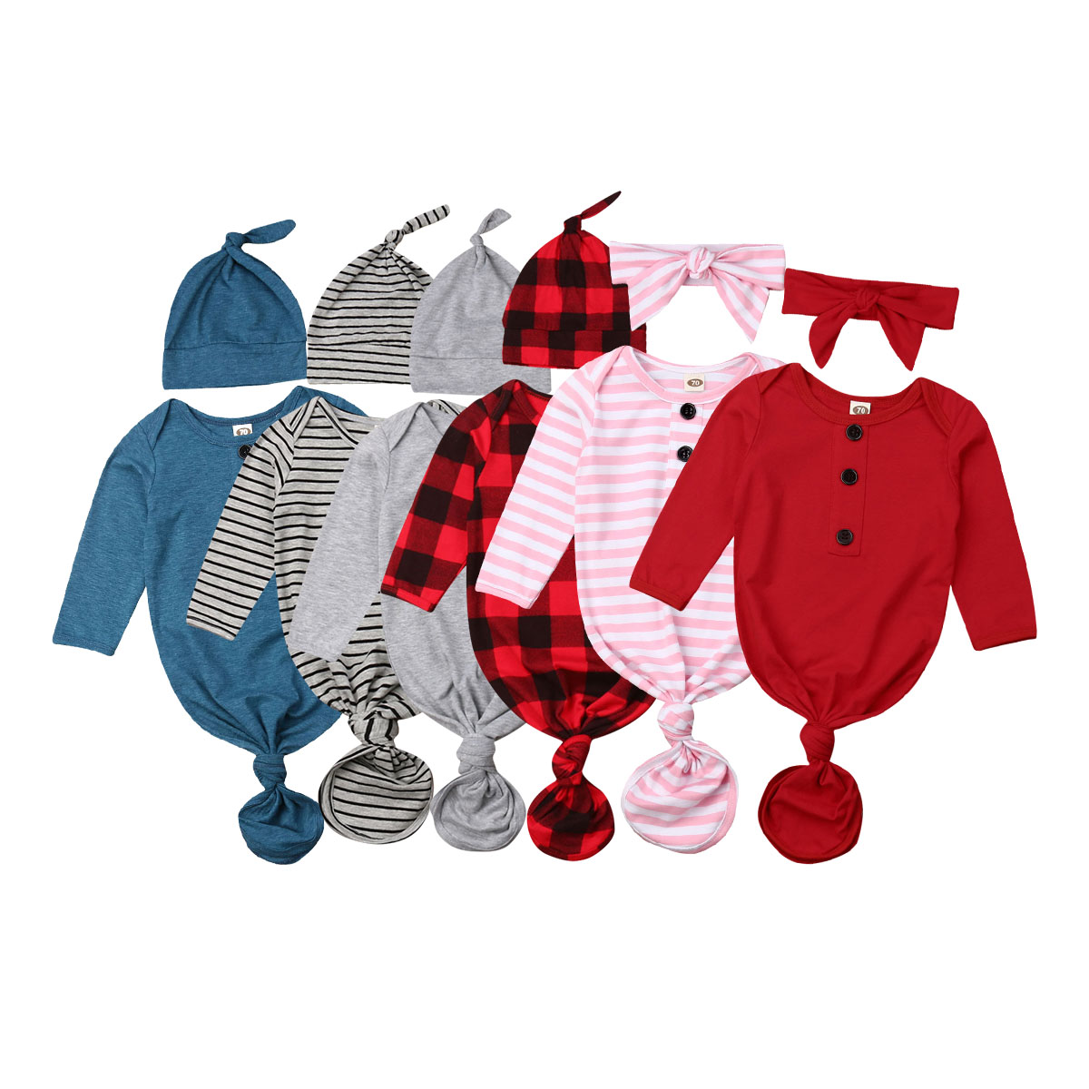2pcs Toddle Baby Striped Red Plaid Brief Soft Infant Swaddle Muslin Blanket Newborn Baby Wrap Swaddling Blanket Sleeper