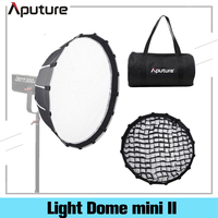 Aputure Light Dome Mini II with Grid Flash Diffuser For LS C120d II 300d Soft Boxes Bowens Mount Fixtures Outside Diffuser