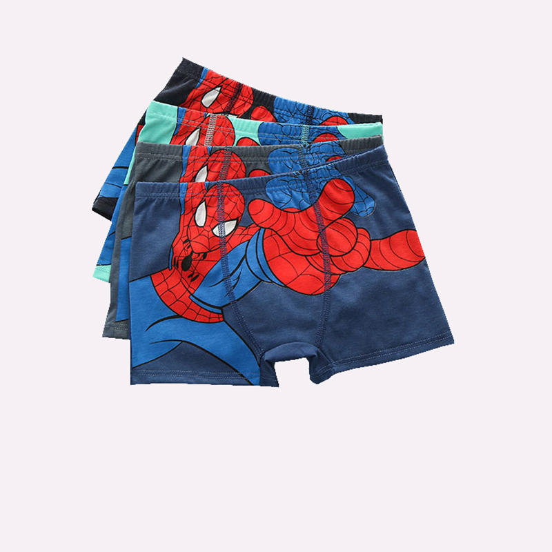 1 Pcs/lot Boxer Briefs Boy Underwear Kids Baby Children Underwear Spiderman Cartoon Panties Teenagers Majtki Chlopiec