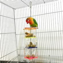 3 уровневая подвесная игрушка для попугаев прозрачная кормушка