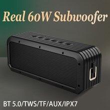 Enceinte Bluetooth Portable, haut-parleur sans fil, puissance 40w, caisson de basses, étanche, pour l'extérieur, EQ, AUX, TF, TWS haut-parleurs enceinte bluetooth waterproof musique puissant haut parleur hifi