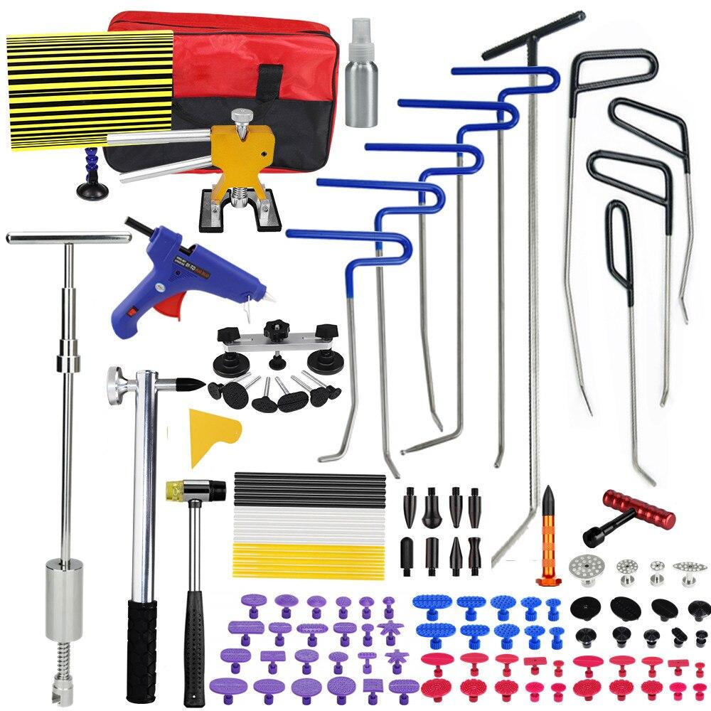 Инструменты PDR, крючки, пружинные стальные прутки для удаления вмятин, Ремонтный комплект для ремонта кузова автомобиля, набор инструментов