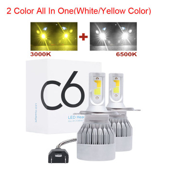 Dual Color Car Lights H7 80000LM H11 LED Lamp For Car Headlight Bulbs H4 H1 H8 H9 9005 9006 HB3 HB4 Turbo H7 LED Bulbs 12V 24V image