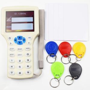 Image 1 - 10 anglais fréquence RFID copieur duplicateur 125KHz porte clés NFC lecteur écrivain 13.56MHz crypté programmeur USB UID copie carte étiquette