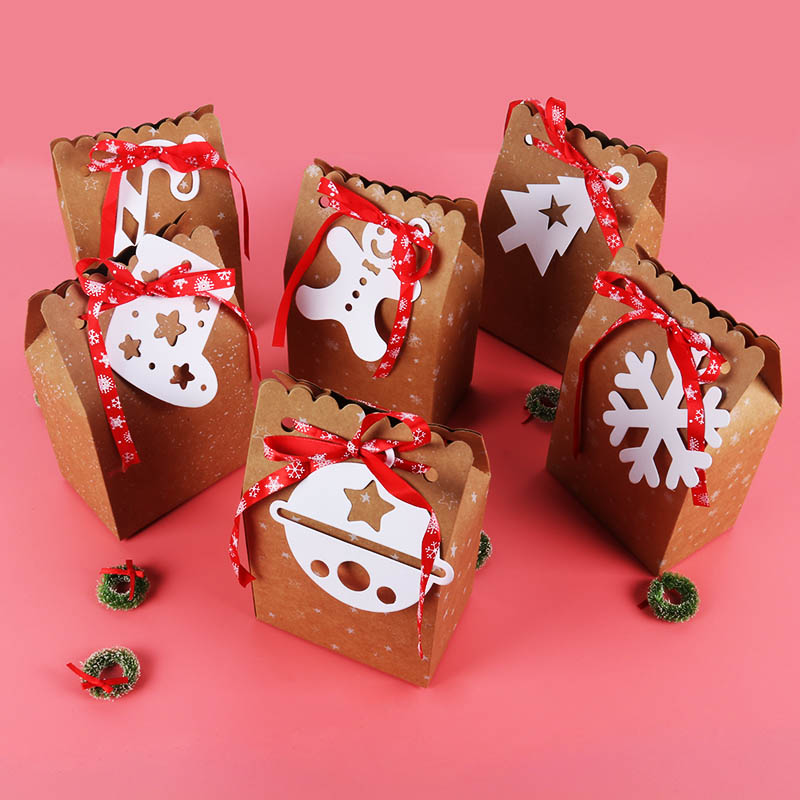Christmas Candy Box House Shape Candy Gift Bags Packaging Boxes Gift Storage Box Christmas Gift Bags Decorations Party Supplies