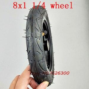 """Image 5 - Neumático de aleación de aluminio para patinete, tamaño 8x1, 1/4, 32mm de ancho, rueda inflada de 8"""""""