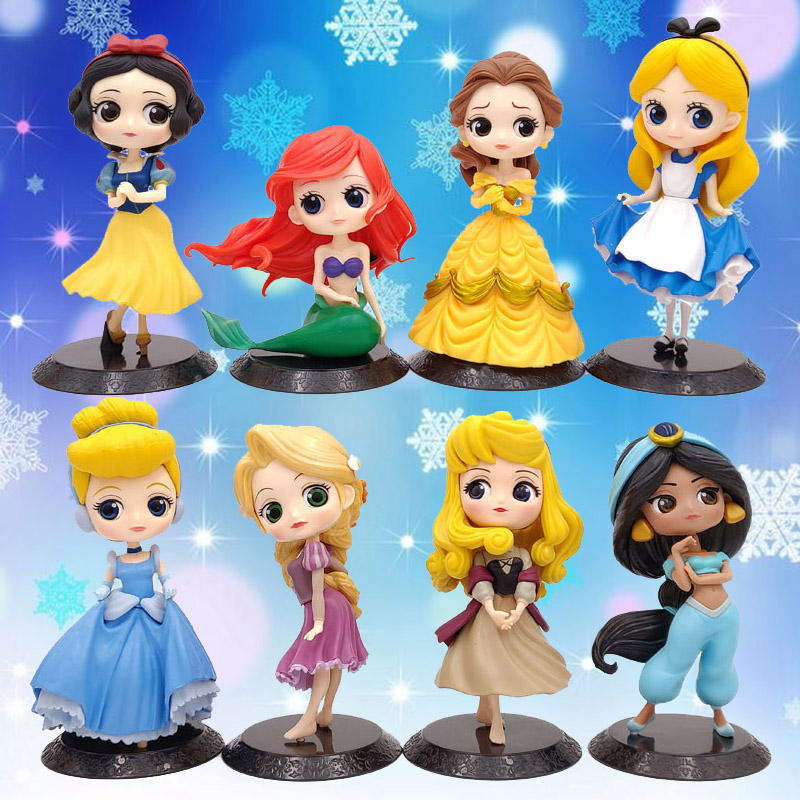 Q Posket Princess Elsa Anna Ariel Belle Harley Quinn The Joker <font><b>Sexy</b></font> 15cm PVC Action Figure Toy Model Toy For Christmas Gift image