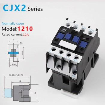 цена на 1PCS CJX2-121012A 3P+NC Magnetic Ac Electric 3 Pole Contactor For Unit 3 Phase 380V 220V 110V 36V 24V Normally Closed Contactor