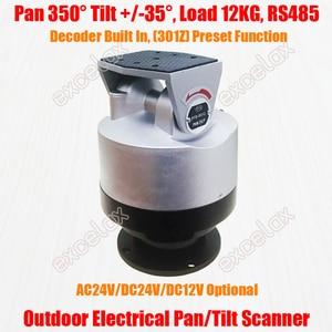 Image 1 - Resistente 12 kg rs485 ip66 motorizado pan tilt scanner decodificador câmera cctv ao ar livre rotação vertical horizontal automática