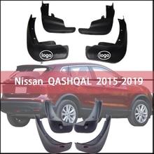 car Fender For Nissan QASHQAI 2015-2019 Front Rear Fender Splash Guards mudguard Mud flap mud splash Mud Flaps Car Accessories mud flaps splash guards front for nissan pathfinder 2010 2014 standard