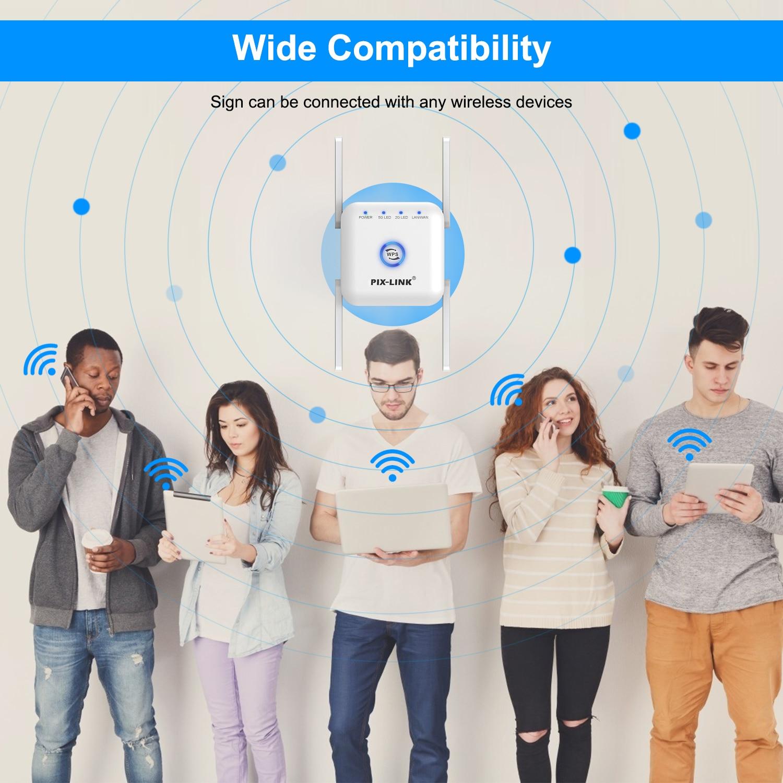 5G WiFi Repeater WiFi Amplifier 5Ghz WiFi Long Range Extender 1200M Wireless Wi Fi Booster Home Wi-Fi Internet Signal Amplifier 6