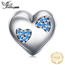 JewelryPalace Heart in Heart 925 Sterling Silver Bead Charms Silver 925 Original For Bracelet Silver 925 original Jewelry Making
