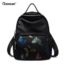 Zooler luxury brand women leather handbag First Layer Leather backpack versatile single shoulder&  messenger bag