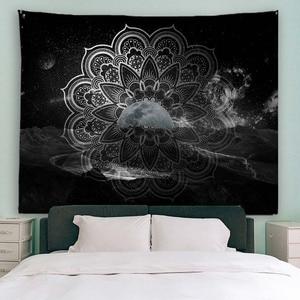 Image 5 - PROCIDA Mandala Tapeçaria Tapeçaria de Arte Tecido de Poliéster Padrão Tema, Decoração Da Parede para o quarto de Dormitório, Quarto, Prego incluído