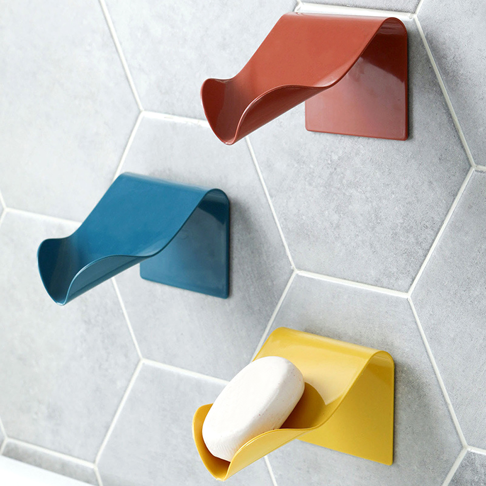 High Quality Seamless Wall-Mounted Soap Holder Drainage Storage Finishing Racks Strong Seamless Stickers Hole-Free Soap Box
