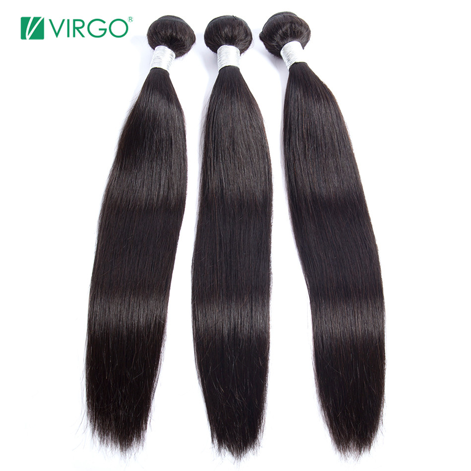 H7a33c074ff284f108b265bc6d8a97219K Peruvian Straight Hair Bundle with closure 3 bundle human hair weave Virgo Hair lace frontal closure with bundles 4 pcs remy