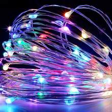 Светодиодная гирлянда из медного провода с usb разъемом сказочное