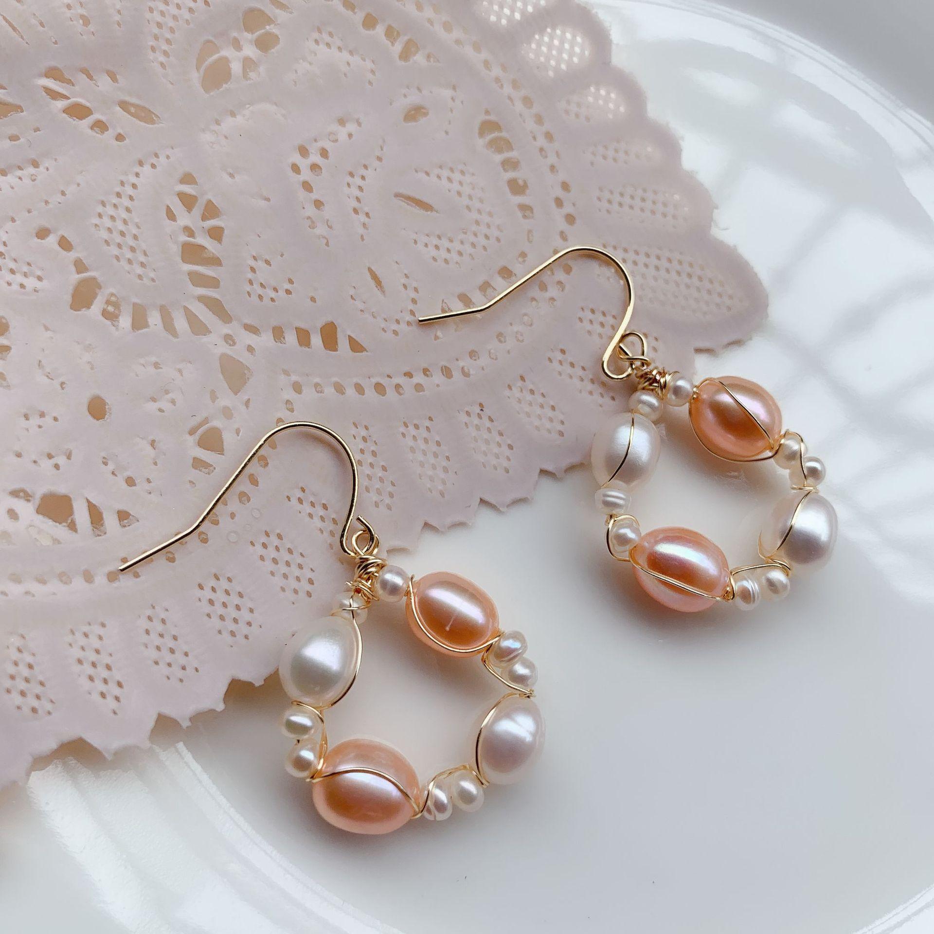 Gold Vintage Natural Pearl Drop Earrings Korea for Women New Fashion 2019 Pendientes Aretes De Perlas Cultivadas