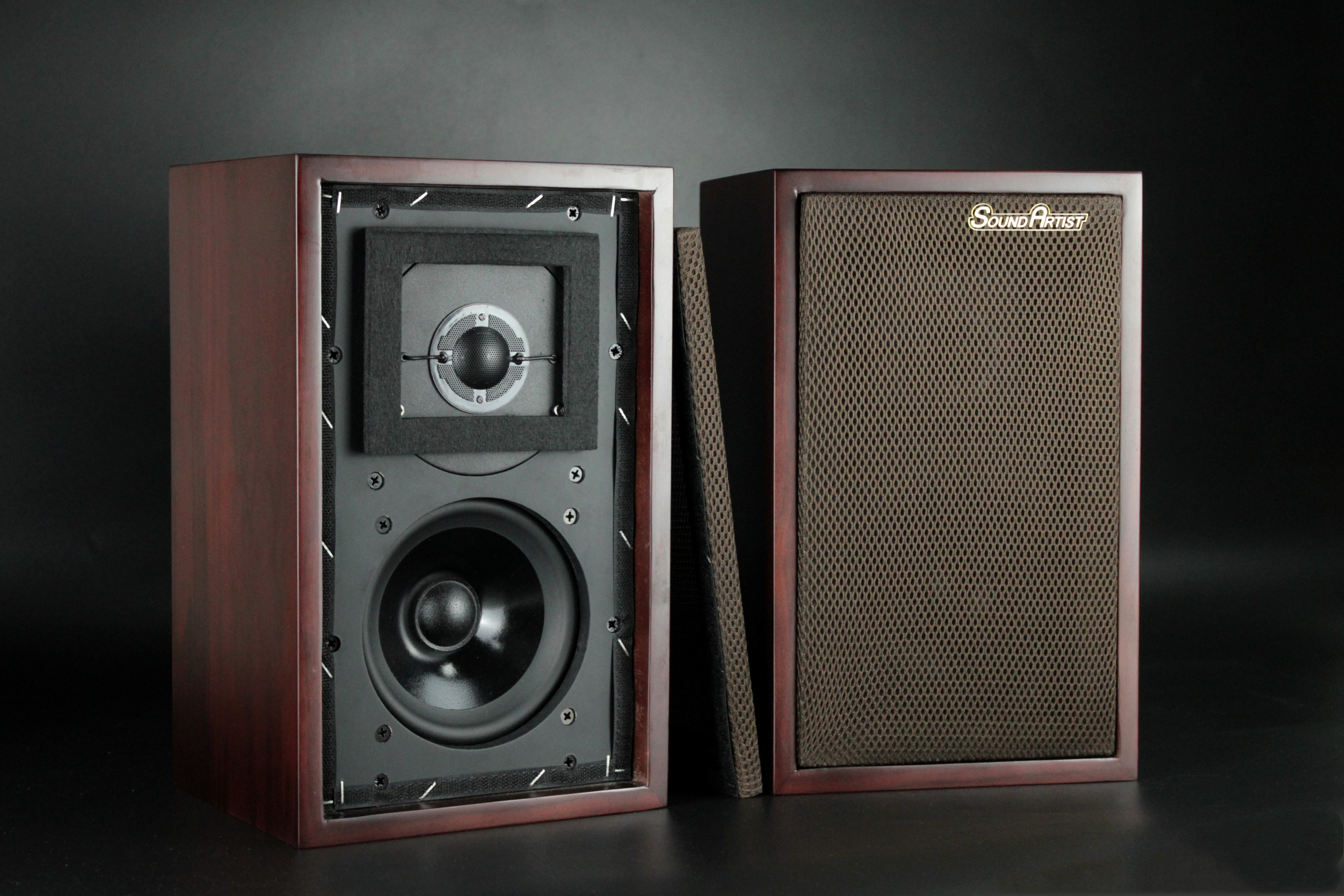 SoundArtist LS3/5A Monitor Bookshelf HIFI Speakers Passive Loudspeakers A Pair Sent From Europe
