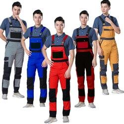 Plus Size Mannen Bib Werken Overalls Mannelijke Werkkleding Uniformen Mode Tooling Overalls Werknemer Reparateur Strap Jumpsuits