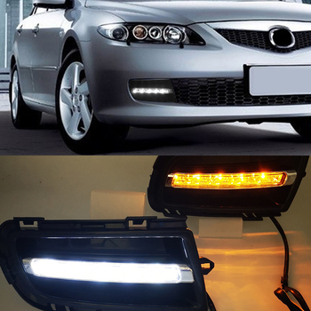 For Mazda 6 2006 2007 2008 2009 Daytime Running Light LED DRL fog lamp Driving lights front bumper accessories