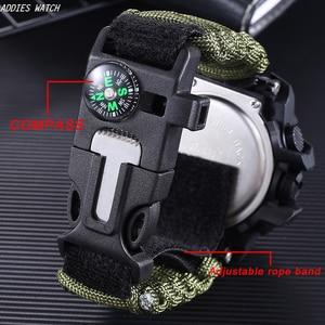 Image 2 - Addies G Shock Mannen Militaire Horloge Met Kompas 3Bar Waterdichte Horloges Digitale Beweging Outdoor Fashion Casual Sport Horloge Mannen
