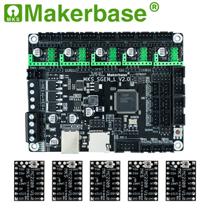 Image 5 - Makerbase MKS SGen_L V2.0 3D מדפסת חלקי 32Bit בקרת לוח 120MHZ MCU TMC2208 TMC2209 TMC2225 uart מצב