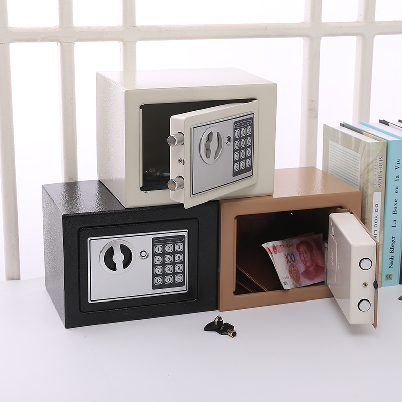 Mini New Electronic Password Box Household Small Office Anti-Theft Wall Safe Low Carbon Alloy Steel Electronic Password Safe