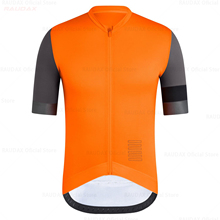 Men #8217 s Orange Cycling Jersey 2020 Pro Team Raudax Summer Cycling Clothing Quick Drying Racing Sport Shirts Mtb Bicycle Jerseys cheap Polyester spandex Short ropa ciclismo hombre Full Zipper Fits smaller than usual Please check this store s sizing info