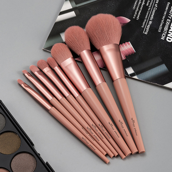 8Pcs Make Up Brushes Set Anmor Makeup Brush Kit For Foundation Powder Highlighter Face And Eyeshadow Blending Cosmetic Tool