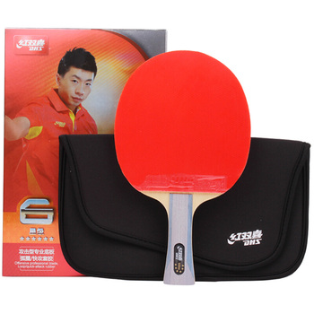 DHS table tennis racket six-star professional training single shot gift set double-sided anti-adhesive six star pro nutrition 100
