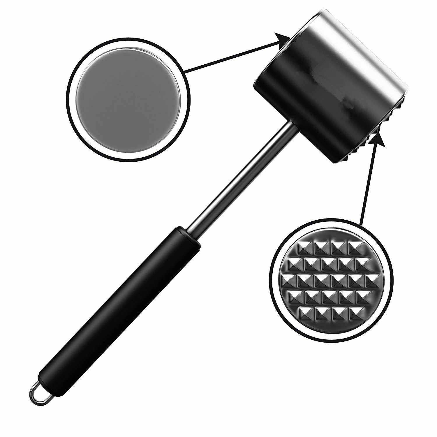 Practical Stainless Steel Steak Pork Chop Quick Pine Needles Tender Meat Hammer Stainless Steel Double Face Tap  Mallet Hamme