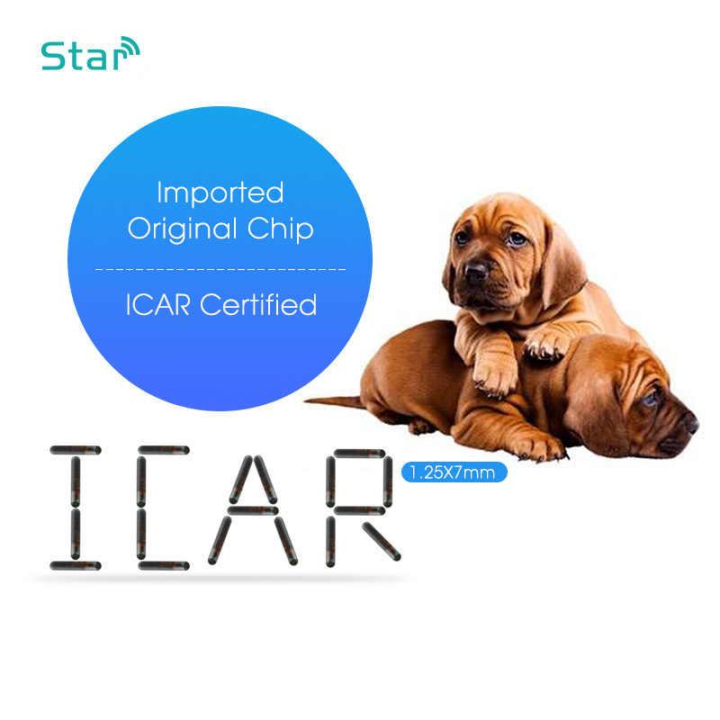 FDX-B 1.4 × 8 ミリメートル小型ガラス ID タグ 134.2 125khz ペットマイクロチップ ISO 11784/5 動物 ID チップのための犬猫魚トラック識別